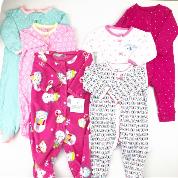 CARTER/'S BABY SIZE 3 MONTHS GREY WITH FLORAL DESIGN ONE PIECE SLEEPER NWT